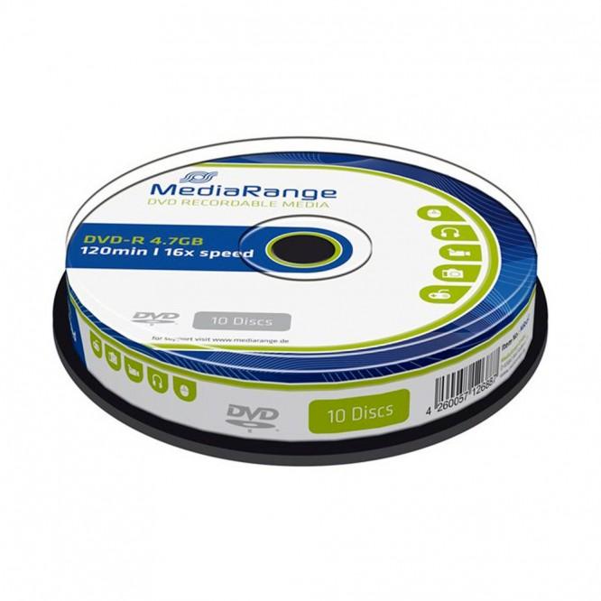 25 MediaRange DVD-R 4,7GB 16x Inkjet Fullsurface Printable