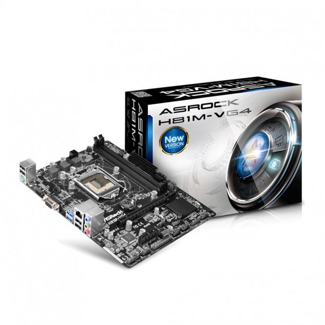 ASRock H81M VG4 3.0 LGA1150 M-ATX, 2xD3 1600 USB3 SATA3