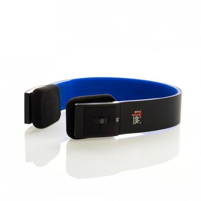 Cuffia Bluetooth 4.0 iTek Stereo con Microfono Nera/Blu ITEH03LBB