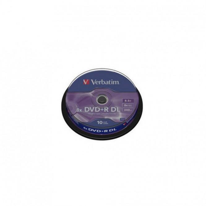 10 DVD+R VERBATIM DL 8.5GB 8X 240 MINUTI
