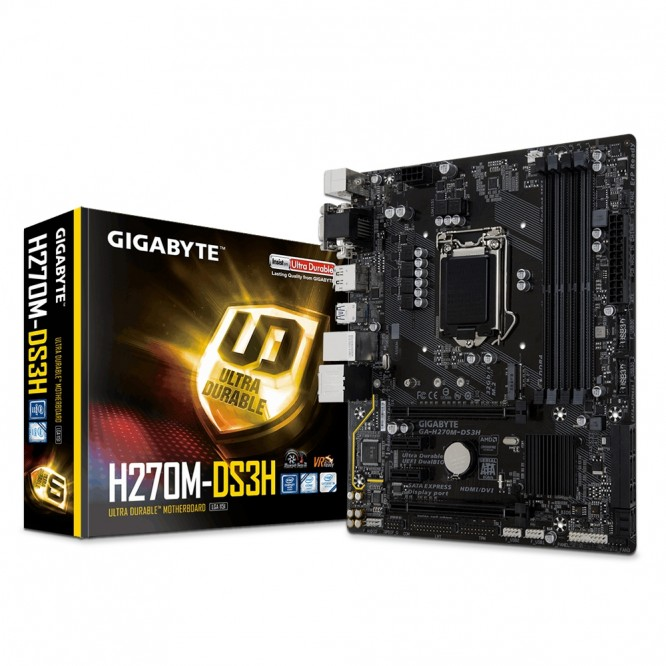 Scheda Madre Gigabyte H270M-DS3H Sok.1151 Micro ATX DDR4