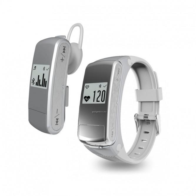 SmartBand F50 Bracelet Music Sport Cardio Pedometro Auricolare BT