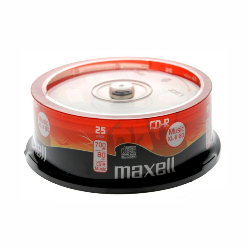 25 CD-R Audio Maxell 700Mb 80Minuti cod.628529